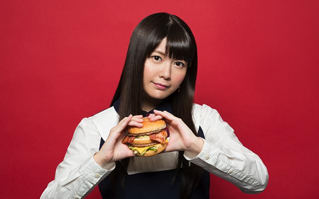 竹達彩奈がマクドナルドのビッグマックベーコンを試食する動画が公開