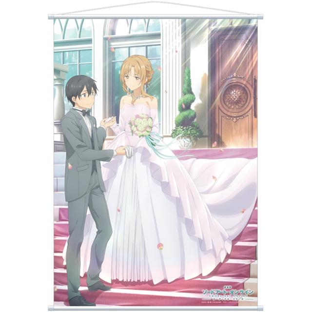 『SAO』描き下ろしイラストグッズ第5弾はキリトとアスナのジューンブライドシーン!