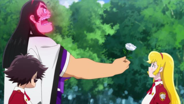 『キューティーハニーユニバース』第3話先行カット&あらすじ公開!ジュネから白バラをプレゼントされた夏子は、すっかりジュネのとりことなり……。