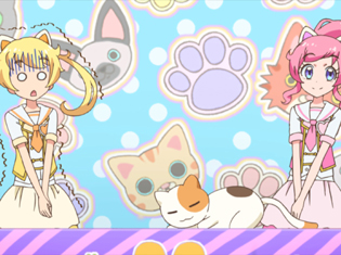 TVアニメ『キラッとプリ☆チャン』第7話場面カット・あらすじ到着!道端で迷子の猫とはち会わせしたえもは……