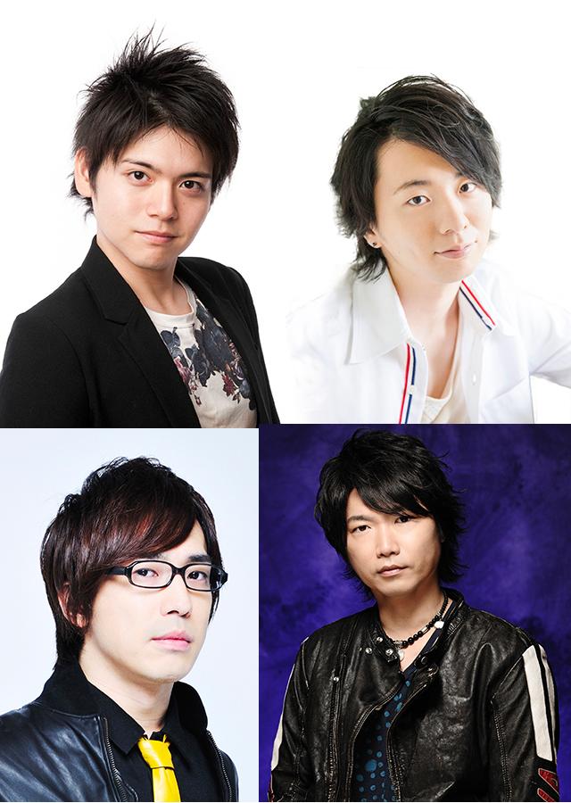 ▲左上より内田雄馬さん、木村良平さん、左下より安元洋貴さん、小西克幸さん