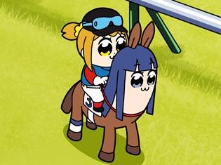 『ポプテピピック』×JRA、完全新作アニメに小松未可子さん・上坂すみれ・中尾隆聖さん・若本規夫さん出演! 特設サイトで公開スタート