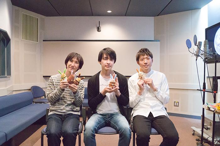 ▲左から、平川大輔さん、田丸篤志さん、高橋英則さん