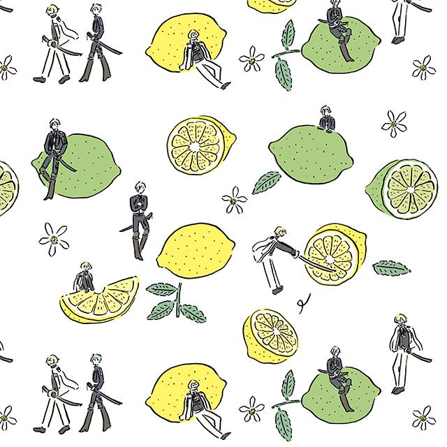 ▲髭切・膝丸とレモン・ライム