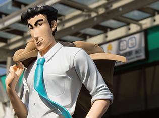 『クレヨンしんちゃん』野原ひろしのクールでかっこいいフィギュアが8月上旬から登場! あの「チョコビ」ともコラボ決定!