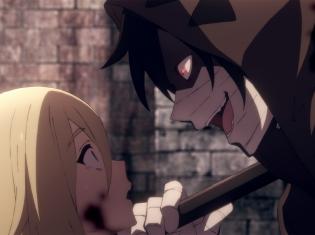 TVアニメ『殺戮の天使』第1話あらすじ&先行カット公開! ビルの地下層で目を覚ました少女レイチェルは、死神のような鎌を持った殺人鬼と出会う
