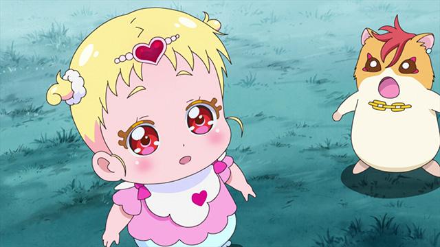 『HUGっと!プリキュア』第23話よりあらすじ・先行場面カットが到着! 雨宿りをしていたはなは不思議な物語を語る男性と再会する……