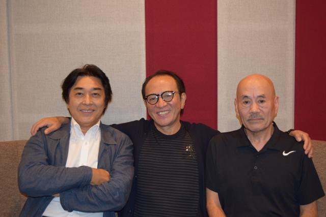 ▲左から江原正士さん、原康義さん、池田勝さん