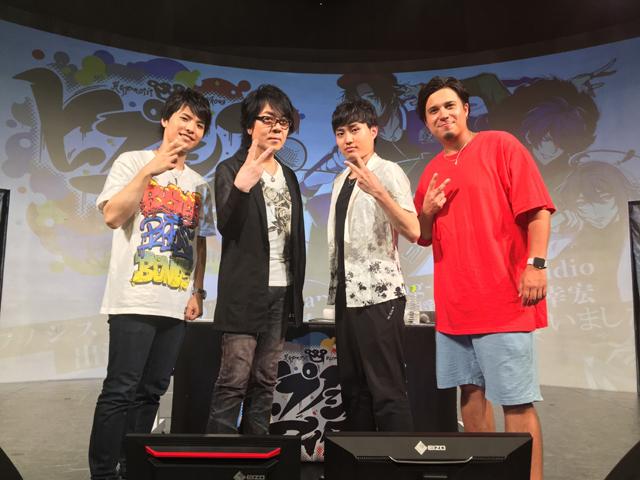 『ヒプノシスマイク』声優陣が新宿アルタKeyStudioでウキウキラップバトル!