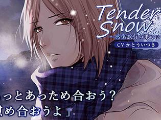 シチュエーションCD『Tender Snow~感傷旅行の果てに~』(出演声優:かとういつき)が「ポケットドラマCD」にて配信開始!