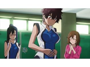 『はねバド!』第6話「最後の夏なんだもん!」より、先行カット公開! 理子はひとり浮かない表情を浮かべていた