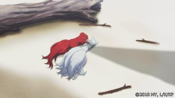 『かくりよの宿飯』第24話「玉の枝サバイバル。」の先行場面カット公開! 葵は銀次、乱丸、チビとともに水墨画の世界に向かう-26