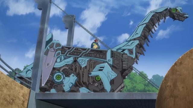 TVアニメ『ゾイドワイルド』第18話あらすじ&先行場面カットが到着! 用心棒をしているソースと再会したアラシ。そこへ怪しい影が動き出す……-16