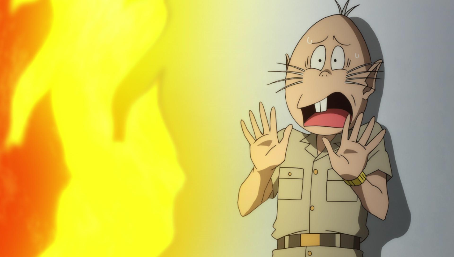 『ゲゲゲの鬼太郎』第40話「終極の譚歌 さら小僧」より先行カット公開! ピン芸人・ビンボーイサムは、さら小僧の唄をネタに……-6