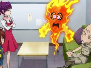 『ゲゲゲの鬼太郎』第21話先行場面カット&あらすじ到着! 人間たちのために働こうとする妖怪・たくろう火が不思議なロボット・ピグと出会い……