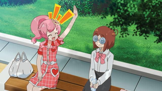 TVアニメ『キラッとプリ☆チャン』第21話先行場面カット・あらすじ到着!みらいは、公園のベンチでうなだれる、一人の女性と出会って……