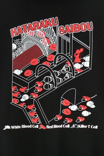 『はたらく細胞』よりイメージパーカーが登場! 白血球(好中球)、赤血球、キラーT細胞が被っている帽子をキャラクターに見立てデザイン!