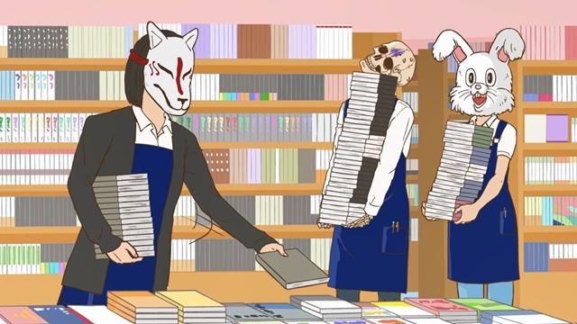 秋アニメ『ガイコツ書店員 本田さん』第8話あらすじ&先行場面カット公開!どこでも本が買える中、人はなぜ本屋に?個性的なお客様のやりとりには様々なドラマが見える-2