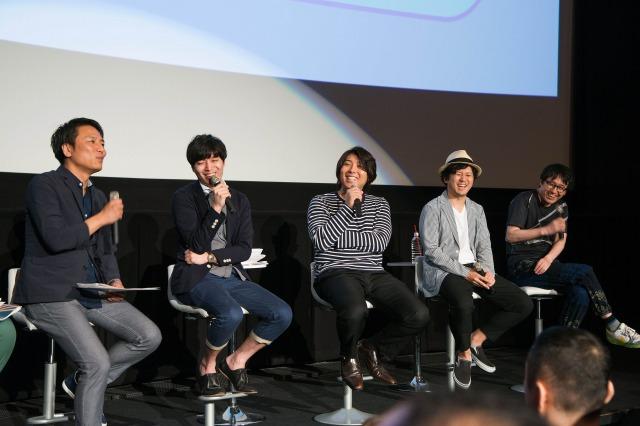▲左から黒田さん田中さん帆足さん石濱さん木村監督