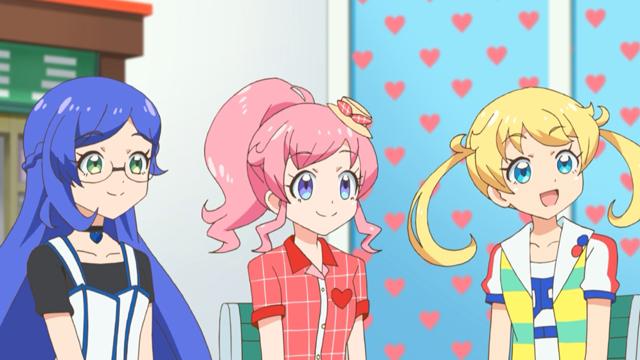 TVアニメ『キラッとプリ☆チャン』第25話先行場面カット・あらすじ到着!めるは道端で気絶していたリーゼント頭の男と出会って……
