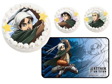 『進撃の巨人』よりエレン、リヴァイ、エルヴィンのキャラクターケーキがアニメイトオンラインショップにて受注開始!