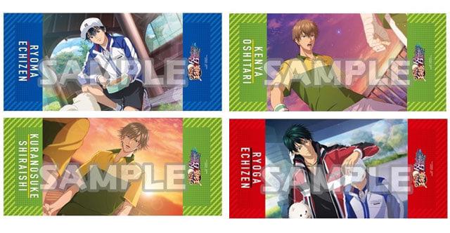 テニラビこと、大人気アプリゲーム『新テニスの王子様 RisingBeat』グラフィックGrandタオル4種、アニメイト限定で予約受付中!