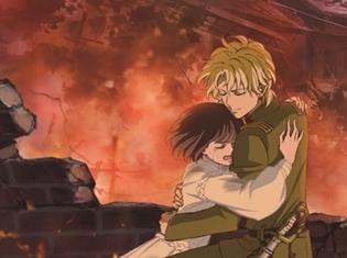 劇場アニメ『はいからさんが通る』後編より、紅緒と少尉が炎の中抱き合う公開直前ビジュアル解禁!