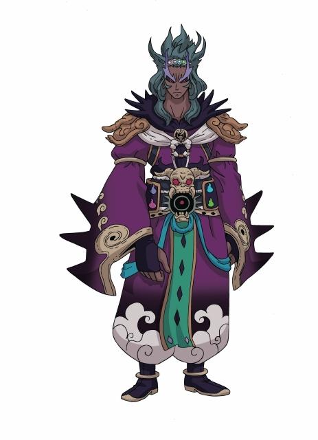 ▲紫炎:閻魔大王の座を奪うという野心を抱き、暗躍する妖怪。強の力を手に入れ、主人公たちの前に立ちはだかる。