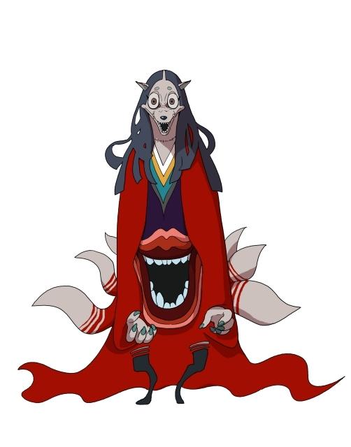▲玉藻前:日本古来から存在し、人の魂を喰らう恐ろしい女妖怪。街に潜んでおり、主人公たちに襲いかかる。
