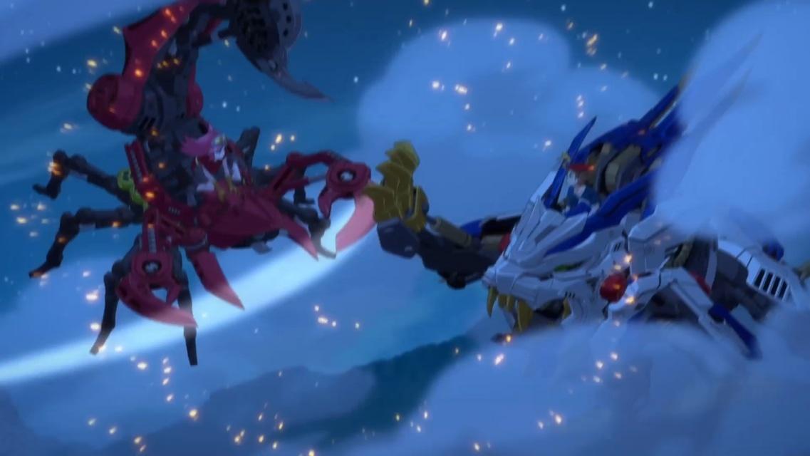 TVアニメ『ゾイドワイルド』第18話あらすじ&先行場面カットが到着! 用心棒をしているソースと再会したアラシ。そこへ怪しい影が動き出す……-18