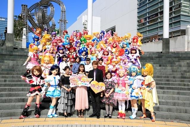 ▲プリキュア完成披露パレード会場にて、プリキュア55と出演声優陣が大集合!