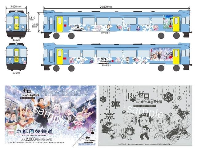 『リゼロ』京都丹後鉄道ラッピング列車が11月10日より運行スタート