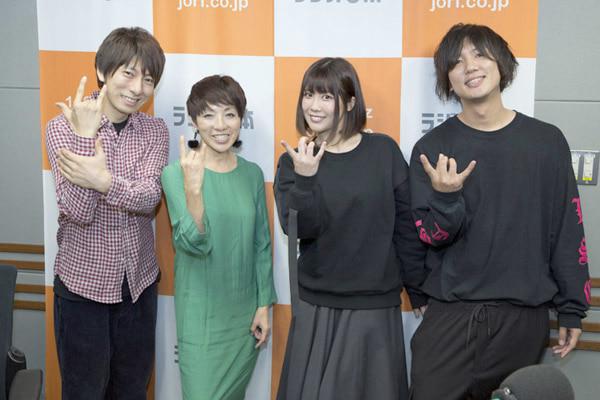 ▲(左から)羽多野渉さん、坂上みきさん、前田玲奈さん、Ryosukeさん