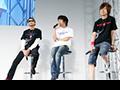 【キャラホビ2008】『ソレスタルステーション00 ~俺たちがガンダムだっ!』スペシャルイベント開催!ガンダムマイスター4人と沙慈役の入野さん・水島監督、そして新人!?のリボンズ役・蒼月さんもステージに登場!