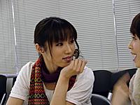 高槻やよい役の仁後真耶子さん。その場にいるだけで場を和ませる雰囲気で、中村さんとの仲も良さそう。