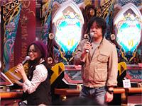 『QMA』ステージを大いに盛り上げたレオン役の檜山修之さんとアメリア先生役のたかはし智秋さん